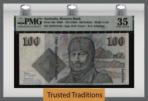 TT PK 48b ND (1985) AUSTRALIA RESERVE BANK 100 DOLLARS PMG 35 CHOICE VERY FINE!
