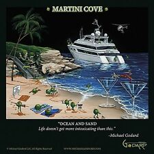 MARTINI ART PRINT Martini Cove Michael Godard