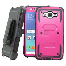 Hybrid Rugged Armor Case Shockproof Cover Belt Clip For Samsung Galaxy J7 Neo