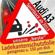 AUDI A3 Sportback PROTEZIONE PARAURTI Pellicola di vernice auto Protettiva 150