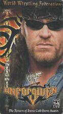 V19  WWF Unforgivin 1995  VHS Tape **BONUS** The Undertaker