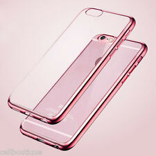 Para Apple iPhone 6/6S TPU Gel goma piel caso/cubierta de oro rosa de cristal claro