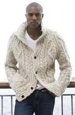 Men's Hand Knitted Cardigan XS,S,M,L,XL,XXL jacket Wool Hand Knit sweater 33
