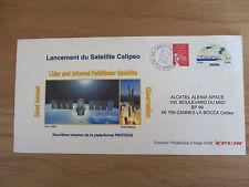 """Enveloppe premier jour """"Lancement du Satellite Calipso"""" numérotée 75 (sur 200)"""