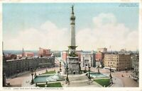 Postcard Army and Navy Monument Indianapolis Indiana