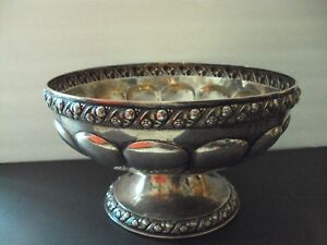 EUROPEAN STERLING 800 SILVER PUNCH BOWL FANTASTIC