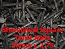 Confezione da 1 KG, 30 mm x 3.75 mm sheradised SQUARE Twist Travetto Appendino Chiodi (a)
