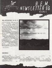 R.E.M. Fanclub Newsletter 1996 Vol.4