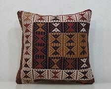 18''X18'' Tribal Kelim Teppich Cushion Cover Throw Pillow Cover Handmade Pillow