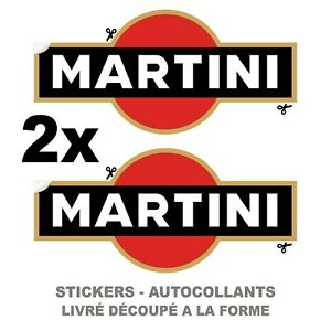 2x MARTINI RALLYE COURSE Autocollant decal auto moto sticker - Plusieurs Tailles