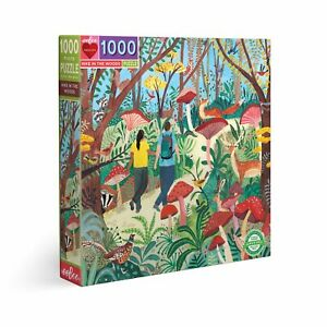 eeBoo 1000 Pc Puzzle – Hike in the Woods Kids Puzzle Family Puzzle 04393