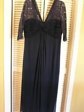 NEW Nordstrom Alex Blue Formal Evening Gown Dress Bridesmaid MOB Womens Plus 20W