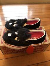 Vans Slip On Shoes (party Fur) Toddler Size 10.5 Black/white