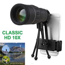 Monocular Telescope Optical 10x40 HD Telephoto Hiking for Smart Phone Camera