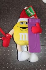 NEW M&M YELLOW CANDY SNOWBOARD SKI VACATION SLED PLUSH STUFFED ANIMAL POSEABLE