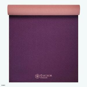 Evolve by Gaiam Reversible Yoga Mat, Berry, 5mm