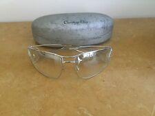 Christian Dior Calanore 70 15 29 GHR 110 Silver Tone Sun Glasses