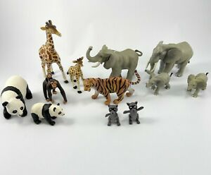 Lot Of Safari Ltd & Schleich Wild Animals & Farm Animals Large 12 PVC Figurines