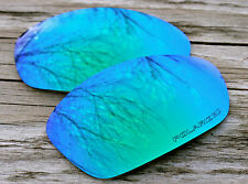Polarized Jade Blue Green Emerald Mirror Sunglass Lenses for Oakley Split Jacket