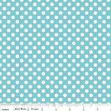 Dots Aqua Small by RBD Designers for Riley Blake, 1/2 yard 100% cotton fabric