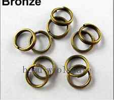 Wholesale Silver/Golden/Copper/Gunmetal Metal Split Rings 4/5/6/8/10/12mm