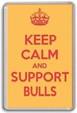KEEP CALM AND SUPPORT BULLS, BRADFORD BULLS RUGBY LEAGUE TEAM Fridge Magnet