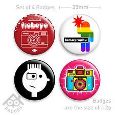 LOMO LC-A + Holga Diana Fisheye Camera Badge - Set of 4 x 25mm Badges Set 1