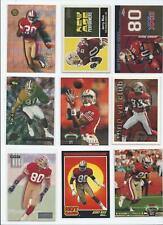 49ers Lot 11: NINE Jerry Rice NFL Football Cards