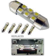 6pcs 31mm DE3022 DE3175 4-SMD 5050 LED Bulb HID Xenon White 6428 6430