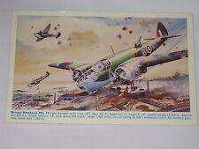 VINTAGE Bristol Blenheim MK. IV Light Bomber Postcard Bomber With Crew Speed