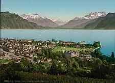 Lac Léman. Vevey. Vue générale.   vintage photochrom from Photochrom Zurich arch