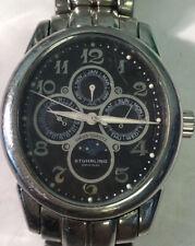 Hardsome Rare Men's Stuhrling Original Chronograph & Moon Phase Wrist Watch AE9