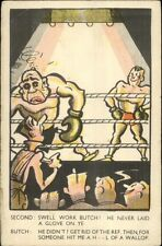 Boxing Comic - Swell Work Butch -  Postcard
