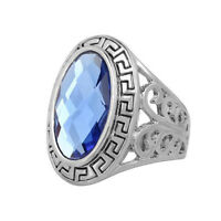 Royal Blue Oval Stone Men Women Unisex Gemstone Hand Ring Small Large XL FR285