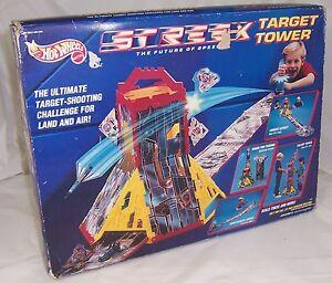 NEW Hot Wheels STREEX Target Tower Track Play Set,1991 Mattel,Shooting Challenge