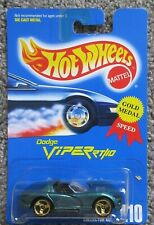 NOC 1991 HOT WHEELS #210 DODGE VIPER RT10 GREEN GOLD TRI SPOKE MALAYSIA