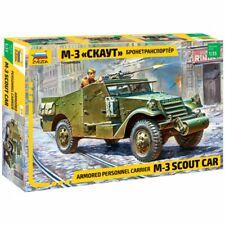 M-3 SCOUT WW II ARMOURED CAR (AMERICAN & SOVIET ARMY MKGS) #3519 1/35 ZVEZDA