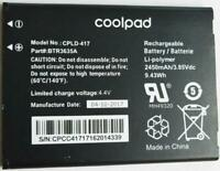 New OEM Original Genuine Coolpad CPLD-417 2450mAh Battery for Defiant 3632A