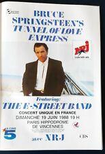 Publicité advert concert album Lp tour advertising BRUCE SPRINGSTEEN 1988 PARIS