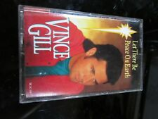 Vince Gill Christmas Cassette Tape Let There Be Peace On Earth 1993~
