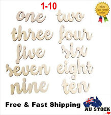 Set of 10 1-10 Freestanding Wooden Table Numbers Wedding Birthday Event Gifts