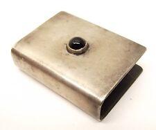Vtg Sterling Silver Matchbox Holder Match Safe Box Onyx Handmade Southwest
