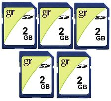 Wholesale LOT of 5 x 2GB Standard SD Secure Digital Flash Memory Card 5 PACK