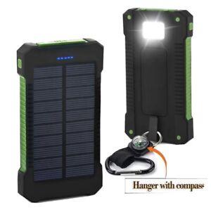 SOLAR CHARGER Waterproof 20000 mAh  Dual USB Portable Solar Battery - Power Bank