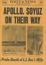Space Flight Apollo Soyuz on There Way New York Daily News July 16 1975  B11