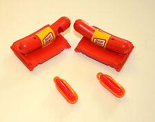 2 Vtg Premuim Toy Oscar Meyer Wieners Hot Dogs Plastic Whistle Gum NOS New 70s