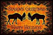*ALASKA MOOSE SEASON'S GREETINGS* 8X12 METAL SIGN USA MADE! WELCOME CHRISTMAS