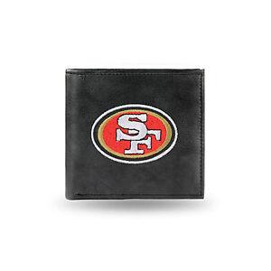 San Francisco 49ERS NFL Embroidered Leather Billfold Bi-fold Wallet Genuine