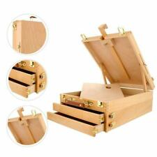 3 Drawers Artist Beech Wooden Box Easel Storage for Painting Sketch School Home