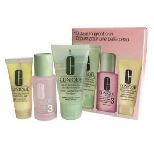 Clinique 3 Step Set Oily Skin, Facial Soap 1oz/Clarifying Lotion 3 1oz/DDMG .5oz